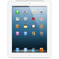 Apple iPad 4 Wi-Fi + Cellular 128GB - White - MЕ407