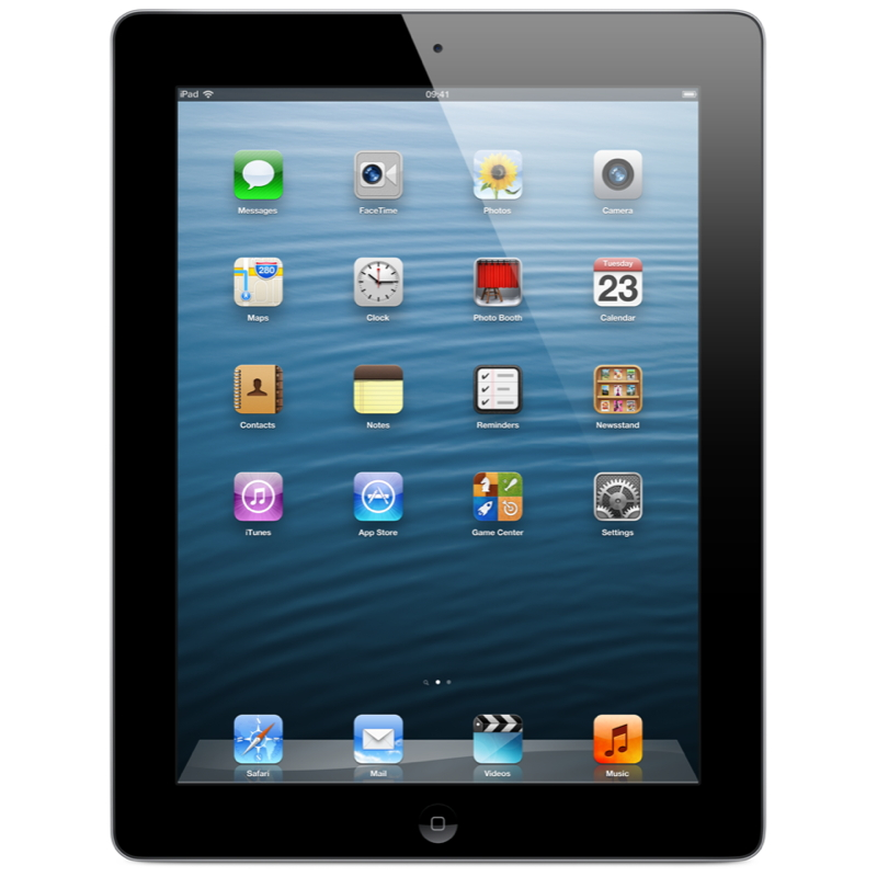 Apple iPad 4 Wi-Fi 32GB - Black - MD511