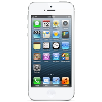 Apple iPhone 5 16GB - White & Silver- MD298